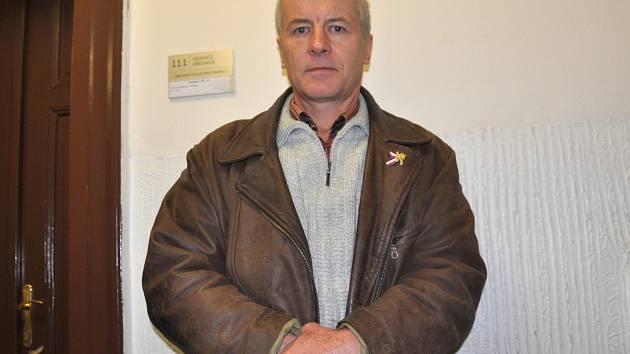 Mluvčí iniciativy Holešovská výzva Jaroslav (neboli Slávek) Popelka před soudem