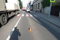 Nehoda na přechodu. Ilustrační foto.