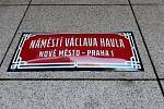 Slavnostní přejmenování piazzety na Náměstí Václava Havla.