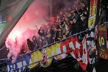 Zápas fotbalové Fortuna ligy mezi týmy AC Sparta Praha a FC Viktoria Plzeň na Letné.
