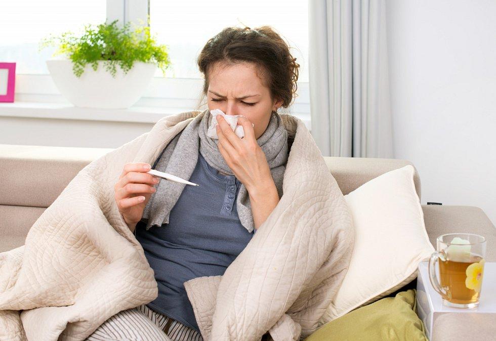 Chřipka. Ilustrační foto.