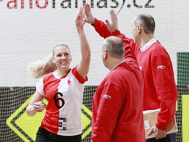 Volejbalistky Slavie získaly na Hané bod