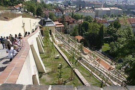 Fürstenberská zahrada je nejvýchodnější a největší ze souboru palácových terasových zahrad pod Pražským hradem.