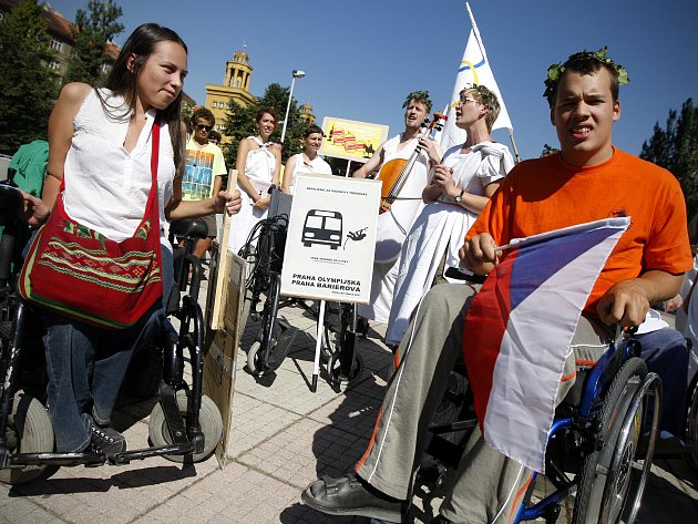 Vozíčkářský happening podpořil i stříbrný olympionik Hradilek