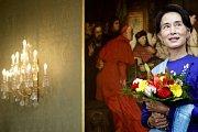 Prezident Miloš Zeman přivítal na Pražském hradě 16. září nositelku Nobelovy ceny za mír Su Ťij