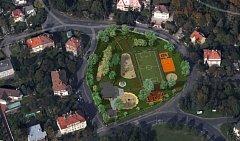 Rekonstrukce dětského hřiště Okrouhlík.