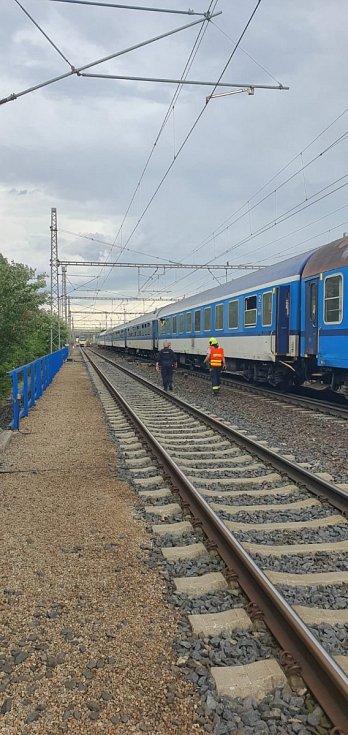 Srážka vlaků v Běchovicích 10. 7. 2020.