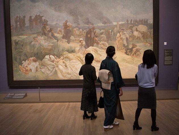 Výstava Slovanské epopeje v Japonsku.