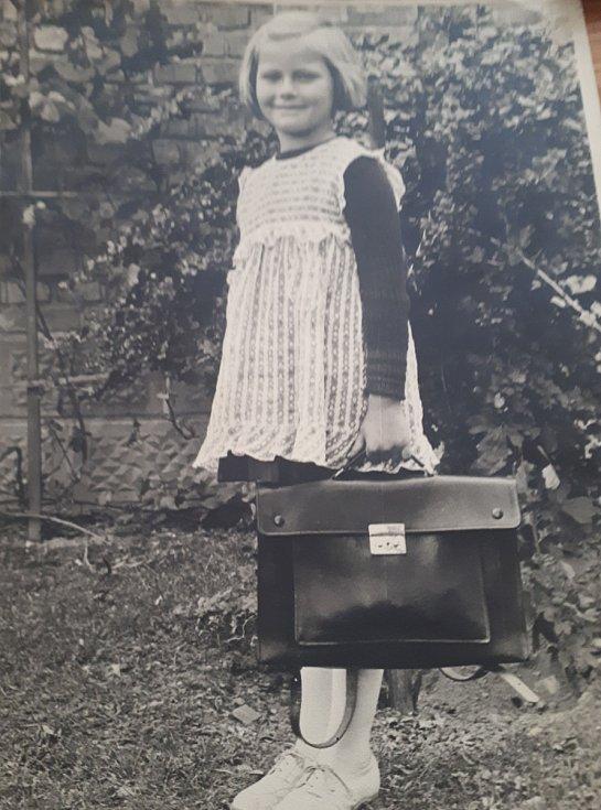 Hana Fousová jako dítě.