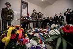 Pietní akt k uctění památky obětí Pražského povstání v Praze na Pankráci.