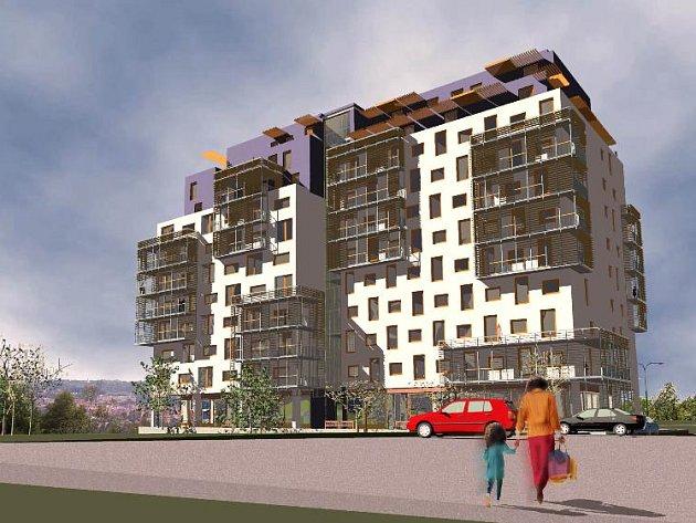 JABLKO SVÁRU. V nebývalé shodě odmítají bytový dům Troja horizons (na snímku) jak místní, tak i úředníci městské části.