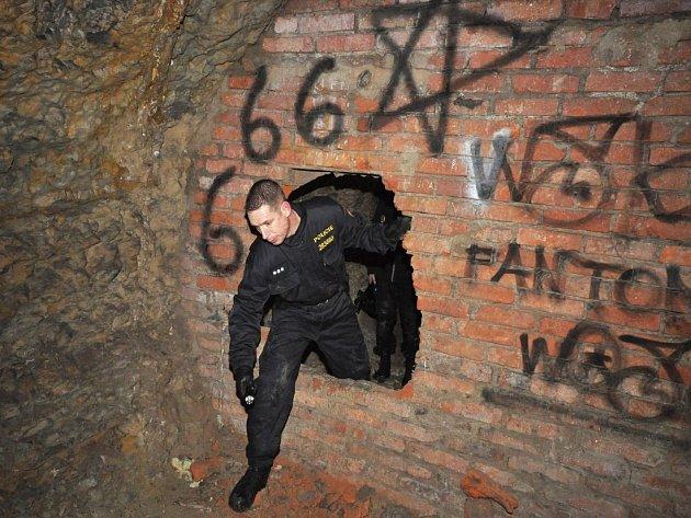 Policejní akce Wolfram se zaměřila na ubytovny i podzemní prostory bývalých ledáren v Braníku, Praha, 25.ledna 2013