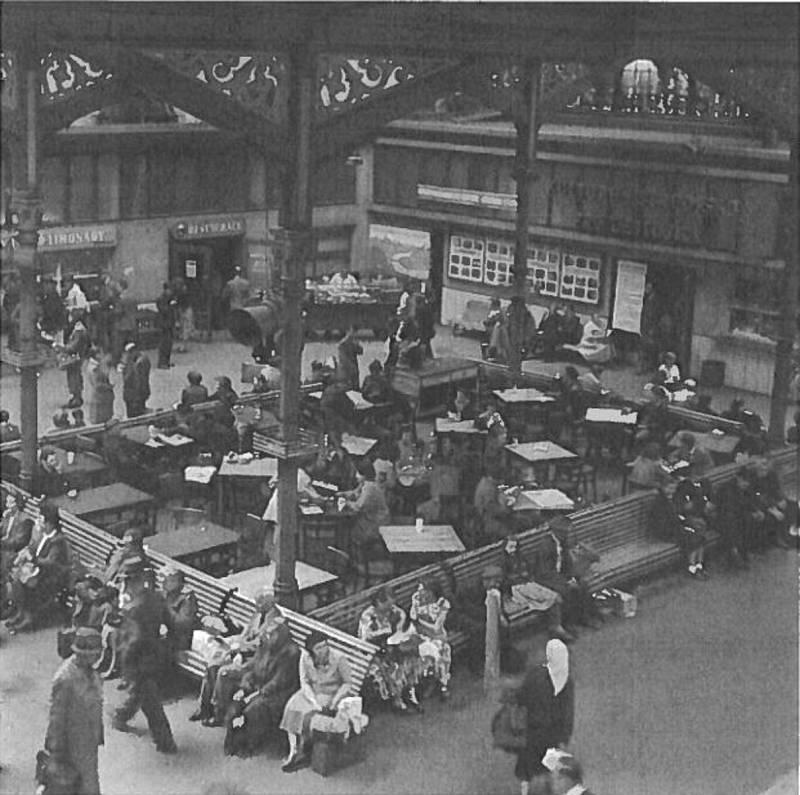 Pohled na restauraci v 50. letech minulého století.