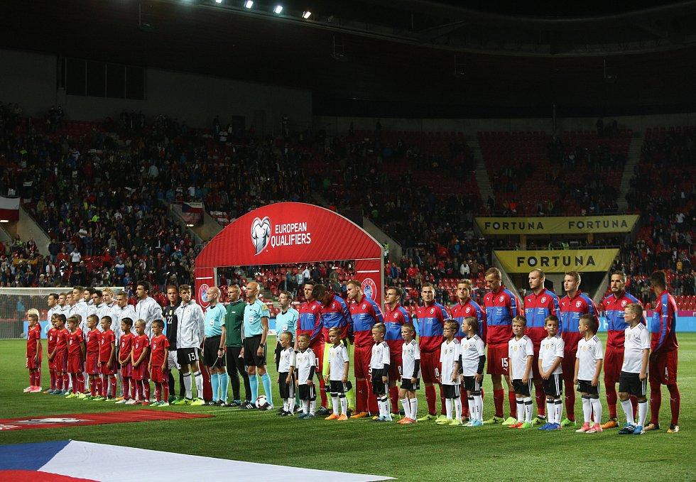 Zápas kvalifikace MS 2018 ČR vs Německo, hraný 1. září v Praze.