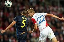 Play off Ligy mistrů mezi SK Slavia Praha a APOEL FC, hrané 23. srpna v Praze.