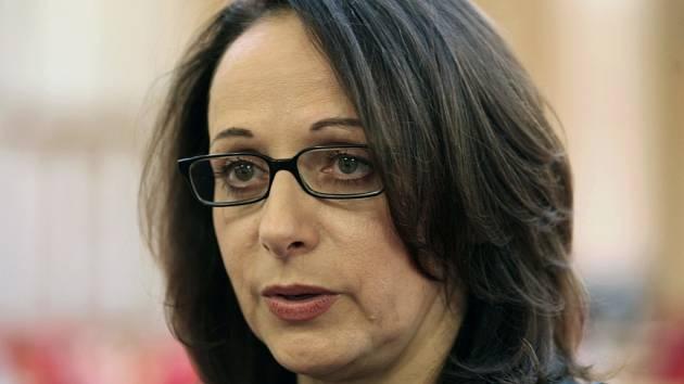 Adriana Krnáčová při ustavujícím zasedání pražského zastupitelstva.