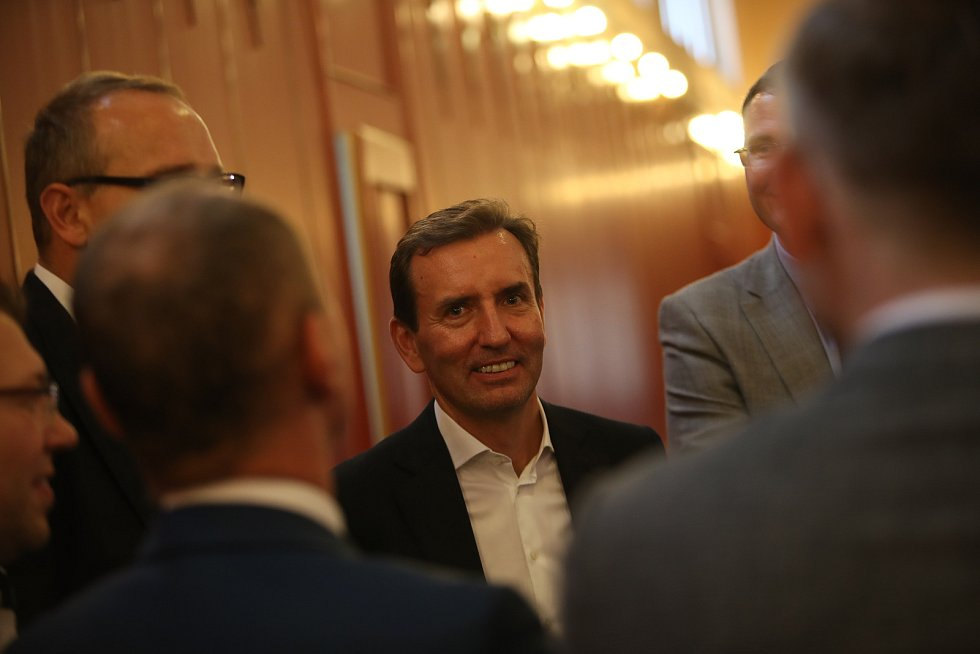 Setkání s primátorem Zdeňkem Hřibem. Spolumajitel Penty Marek Dospiva