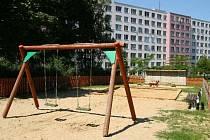 Dětské hřiště Podhajská pole v Bohnicích.