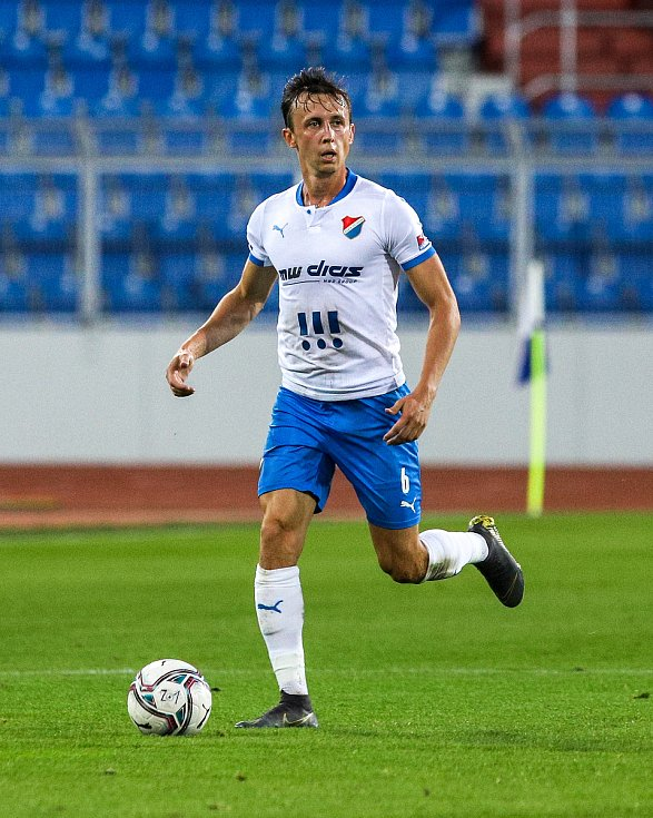 Utkání 6. kola fotbalové Fortuna ligy: FC Baník Ostrava - Slavia Praha, 4. října 2020 v Ostravě. Daniel Tetour z Ostravy.