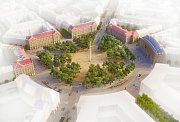 Vítězný návrh proměny Vítězného náměstí - vizualizace.