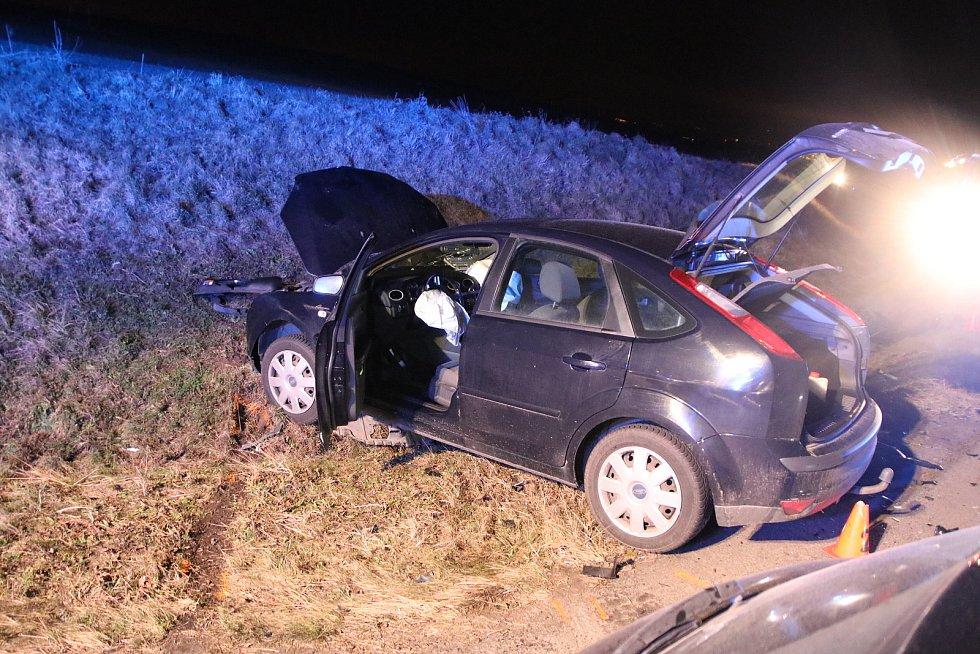 Autonehoda mezi obcemi Dřínov a Zborovice, 27. prosince 2020