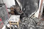 V jednom z rodinných domů v Pačlavicích na Kroměřížsku hořelo.