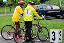 Na dopravním hřišti měli soutěž mladí cyklisté.