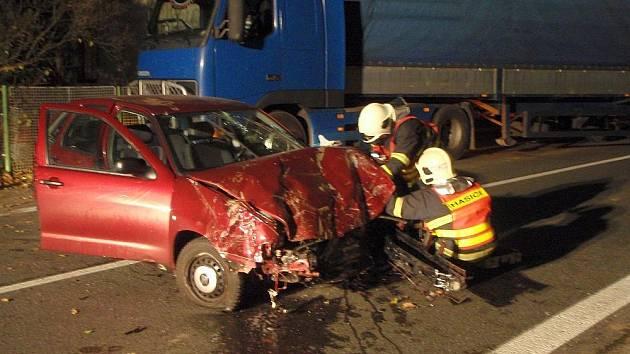 Pomoc hasičů po několika nehodách ve Zlínském kraji