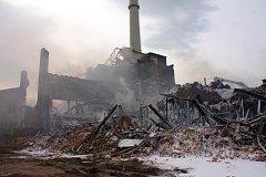 Hasební práce v továrně v Chropyni pokračovaly také čtvrtý den, v pondělí 11. dubna