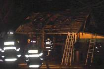 19. března večer došlo k rozsáhlému požáru chaty u Želkova