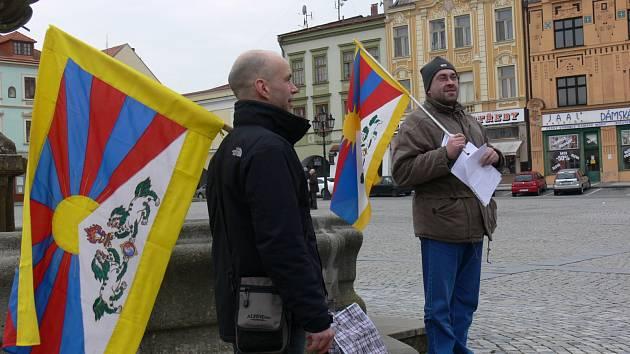 Vlajka pro Tibet v Kroměříži. Ilustrační foto