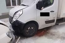 Dopravní nehoda ve Chvalčově.