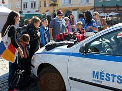 Na Velkém náměstí se konal sportovní a zábavný program s tématikou dopravy, bezpečnosti a aktivního pohybu.