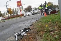 V Kroměříži v ulici Hulínská havarovala v úterý 26. října dvě auta.