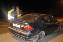 Státní a městští policisté vyrazili 25. února v noci na dopravně bezpečnostní akci.