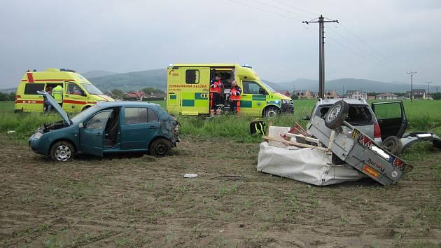 Dopravní nehoda u Martinic.