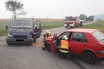 Dopravní nehoda u Zdounek