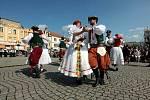 Dožínky Zlínského kraje na Velkém náměstí v Kroměříži; sobota 21. srpna 2021