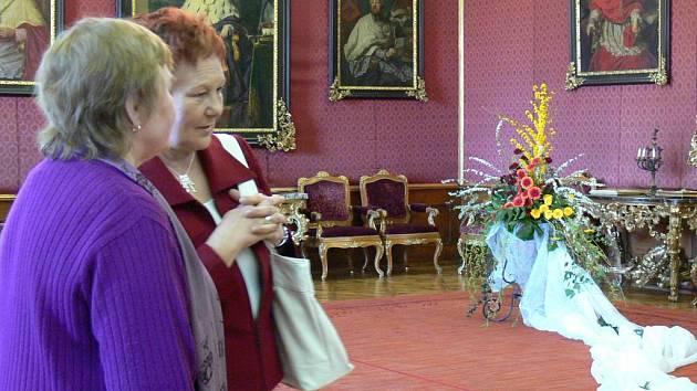 Výstava květin v Kroměřížském zámku.