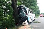 Havárie autobusu u obce Střílky na Kroměřížsku.