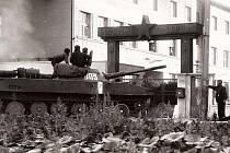 Unikátní snímek z Holešova ze srpna 1968.
