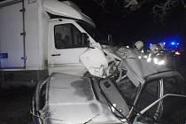 Dopravní nehoda u Bystřice pod Hostýnem.