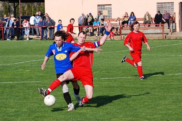 Kyselovice B prohrály na hřišti Břestu vysoko 0:5.