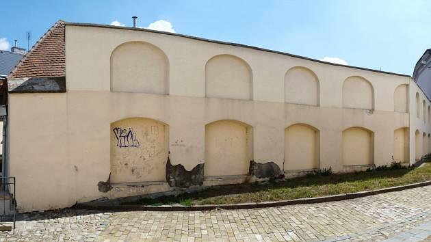 Separační zeď v Kroměříži.
