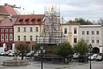 Morový sloup na kroměřížském Velkém náměstí.