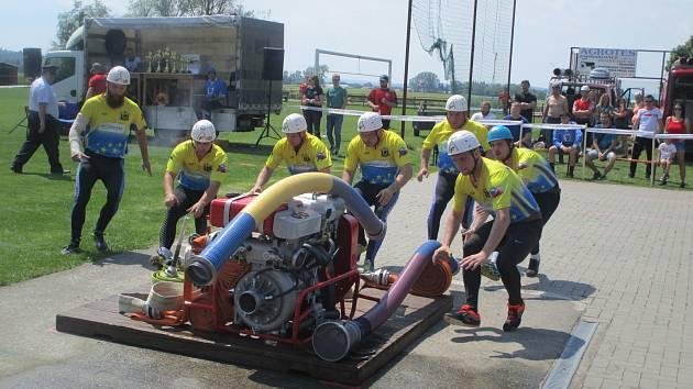 V Ludslavicích se konaly závody v požárním sportu.