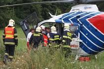 Dopravní nehoda u obce Zlámanka.