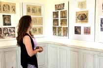 Výstavu slavného malíře Jana Kőhlera je možné vidět v sálech zámku v Bystřici pod Hostýnem.