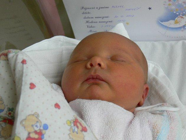 Matyáš Pektor narozený 20. 10. 2007 potěšil rodiče váhou 3, 55 kg a mírou 51 cm.