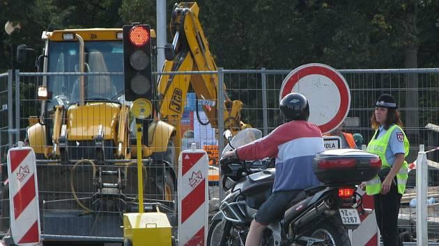 Oprava mostu v Kroměříži